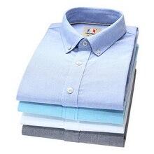 260442/лето оксфорд спиннинг/хлопок/мужчины/рубашка с короткими рукавами/тонкий сплошной цвет деловой случай рубашка/большой размер/мужская clothing