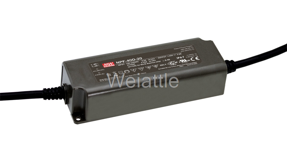 MEAN WELL original NPF-40D-20 20V 2A meanwell NPF-40D 20V 40W Single Output LED Switching Power Supply mean well original npf 40d 36 36v 1 12a meanwell npf 40d 36v 40 32w single output led switching power supply