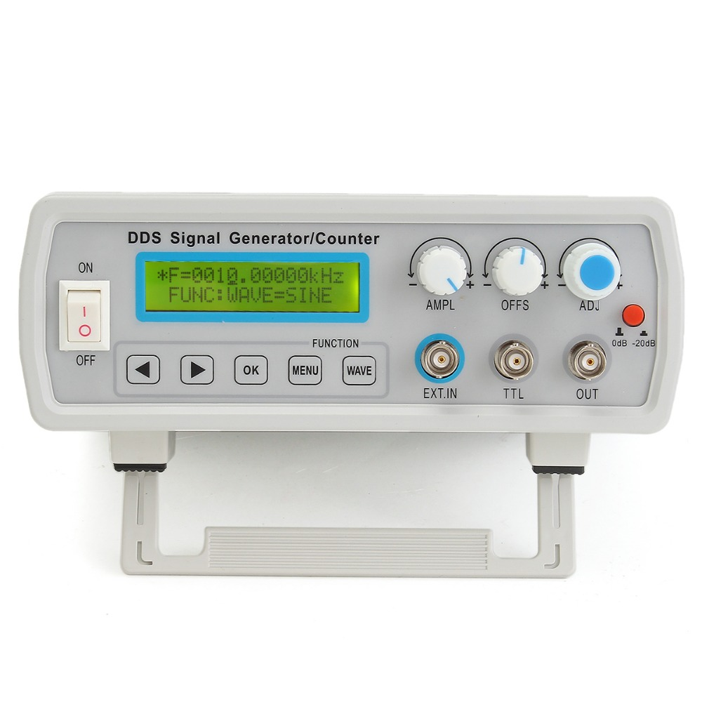 New 2MHz DDS Function Signal Generator Sine/Square Wave Sweep Frequency Meter Free Shpping fy2212s 12mhz dual channel dds function signal generator sine square wave sweep counter