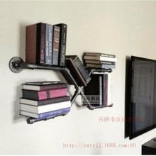 UTS Iron American retro personality bookshelf wall-mounting creative manufacturers specializing in custom X-type