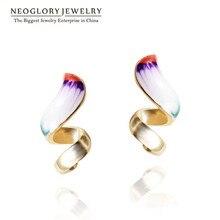Neoglory, светильник, желтая Золотая эмаль, висячие серьги для девочки-подростка, индийские украшения, любовь, подарки на день рождения, Новая мода