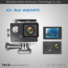 цена на Nello OnReal X2+ LITE 4K action cam Three-axis stereo anti-shake NTK96660+sony 179 wifi sport action camera
