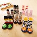 Bebê de Algodão Piso Interior Chinelos Skid Sola De Borracha Socks 3-11 Meses Nascidos Meias Meninos e Meninas Manter aquecido Desgaste do pé