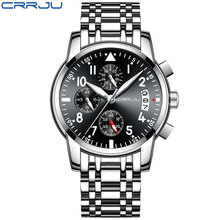 Business Men Watch Luxury Brand Stainless Steel Wrist Watch