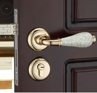 Premintehdw Mortise Interior Door Rosette Lock Set Reversal 35 50mm door thickness With Ceramic Handle