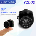 VENYASOL 480P HD The Smallest Mini Camera Video hidden Recorder micro camera Camcorder  DV DVR Portable Y2000