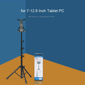 Tripod Rotation Tablet Holder Stand for Ipad Air Mini 2 3 4 Tablet Mount 7-13 Inch Tripod Stand for IPAD Pro 12.9 Samsung Xiaomi