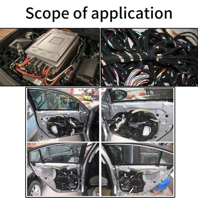 1 unidad de Cinta de fieltro autoadhesiva Anti sonajero para coche, cinta de tela de franela Universal, cinta de tela, arnés de cableado automotriz, cinta de franela negra