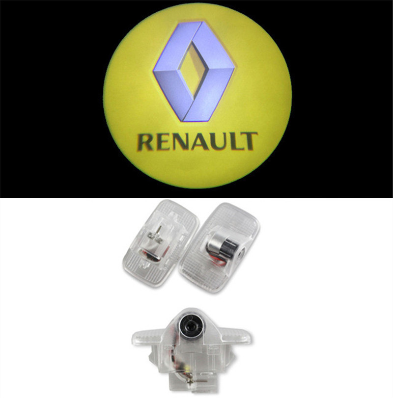 2pcs Renault Door Light for Many LOGO Projector Ghost Shadow Light LED Car Welcome Lights Laser