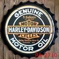 Genuine Motor Oil Motorcycle Bottle Cap Decorative Metal Plate Plaque Vintage Pub Wall Art Metal Sign Vintage Home Decor 35 CM