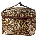 Makeup Case For Ladies Casual Leopard Print PU Leather Women Travel Makeup Bag Cosmetic Bag para mujer