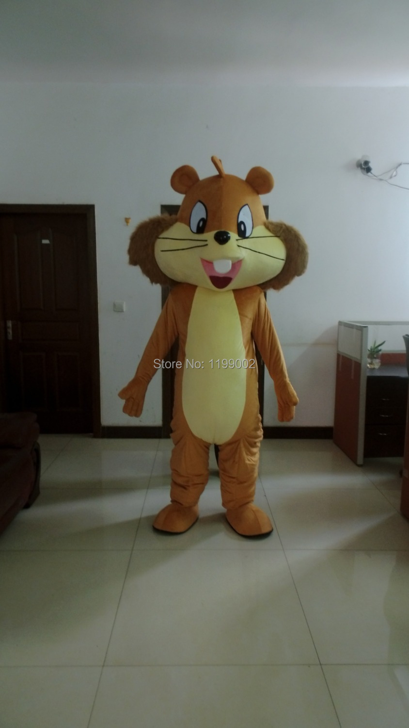 nice squirrel mascot costume chipmunk costumes Free shipping for Halloween party event