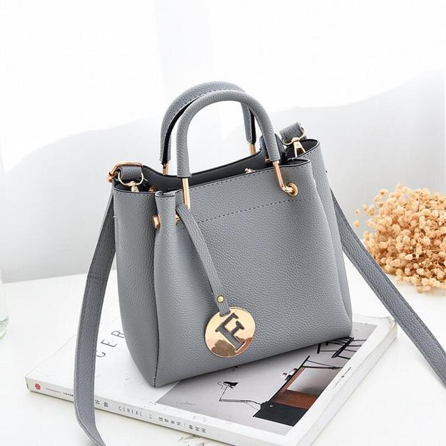 a7fe84563 Dinaseuk Mulheres 2 Peças Conjuntos de Bolsas Pequenas de Couro Composto  Saco Alça Superior Para As