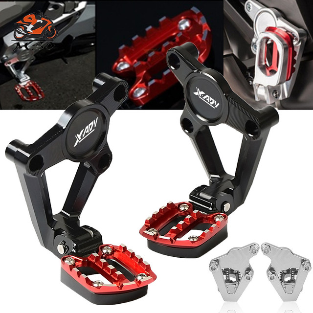 Motorcycle Accessory Folding Rearset Foot Pegs For Honda X-ADV 750 XADV X-ADV750 Moto Footrest Rear Sets Articular Footpeg