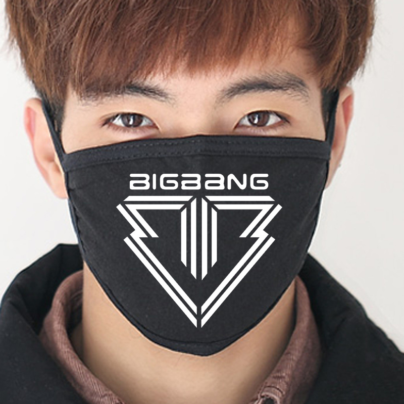 2018 New Black Bigbang Anti-Dust Cotton Mouth Mask Kpop GD TOP Collective Masks K-pop G-Dragon Face Mouth-muffle Face Respirator