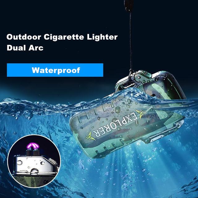 Double arc cigarette lighters