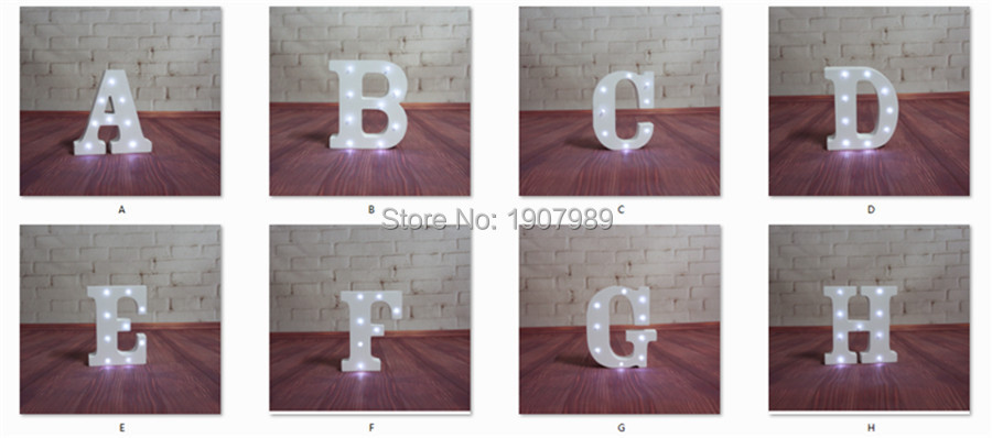 """Lighted Wall Letters Inspiration 16Cm 6.2"""" White Wooden Led Lighted Marquee Letters Sign Alphabet Decorating Inspiration"""