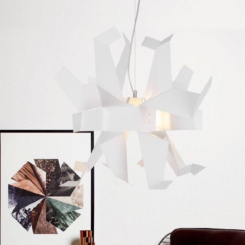 Moderne créatif en forme de conception suspension lampe blanche mille papier grue origami chambre décoration E27 lampe d'éclairage - 6