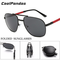 CoolPandas Classic Brand Foldable Aviator Sunglasses Man S Metal Toad Sunglasses Polarized For Women Pilot Driving