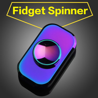 New Square Rainbow Fidget Spinner Finger Gyro EDC Hand Spinner Colorful Copper HandSpinner Focus Toy Fingertip