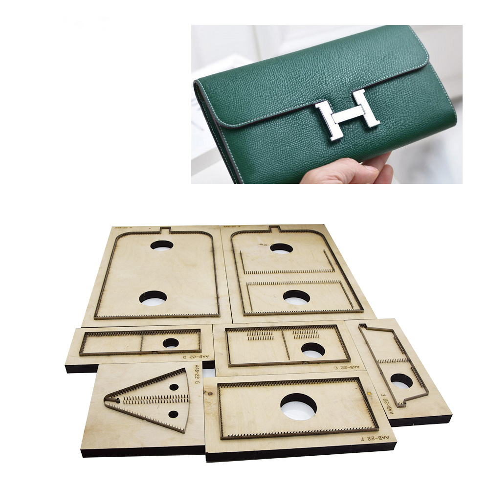 Japan Steel Blade Wooden Rule Die Women s Long Style Wallet Handbag Leather Craft Hand Punch