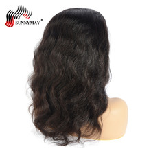Sunnymay Yaki Body Wave Full Lace Human Hair Wigs With Baby Bleached Knots For Black Women