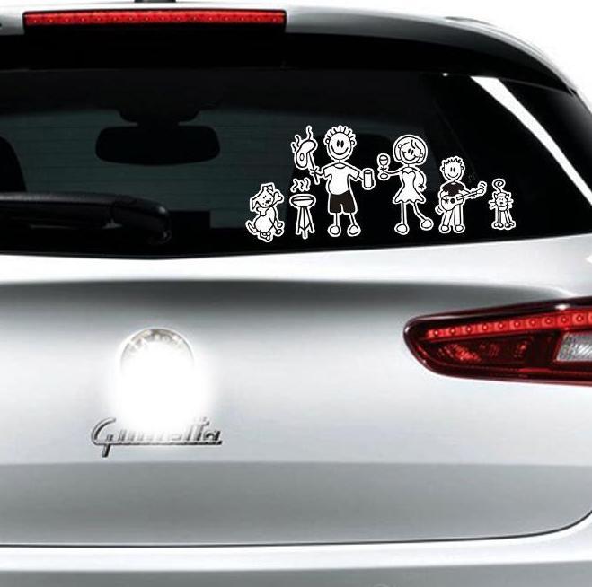 Aliexpresscom  Buy Xcm Funny Family Car Stickers Car Window - Unique family car decals