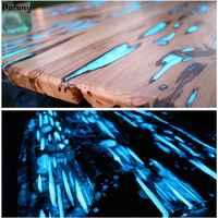 Dofuny 100g Sky Blue Luminous Powder Phosphor Powder For Nail Polish Coating, Glow In The Dark Pigment Sky Blue Light in Night