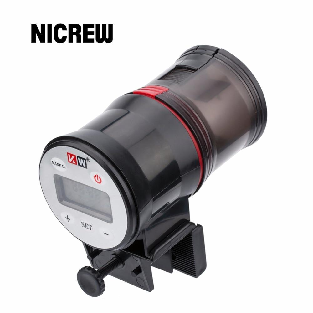 Nicrew automatic fish feeder aquarium tank auto food timer for Fish feeder timer