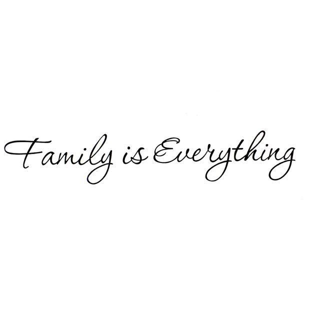 family is everything removable home decor art vinyl quote wall