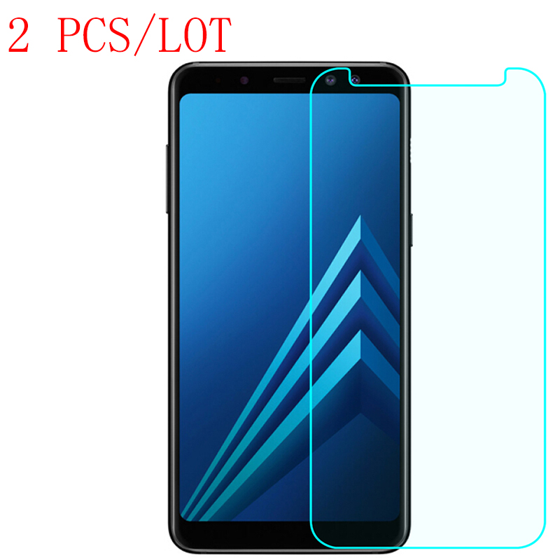 2PCS Tempered Glass For Samsung Galaxy A8 2018 Screen Protector for SS S7 Active J2pro J ...