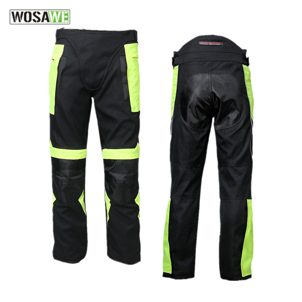 лучшая цена RIDING TRIBE Motocross Sport Motorcycle Pants Street Racing Windproof Moto Trouser Removable Protector Moto Riding pants