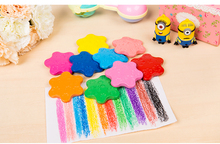 Creative 12 Colors/set Crayon Colorful Wax Crayons Cartoon Egg Shape Graffiti Pen Painting Gift for Kids Drawing
