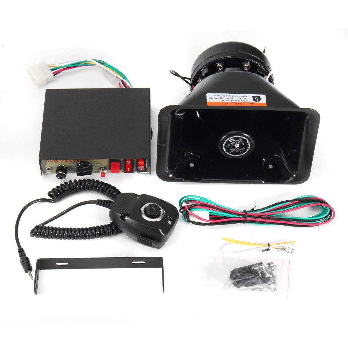 Safurance Air sirène klaxon avertissement mégaphone avec micro haut-parleur voiture camion 12 V 8 sons fort alarme de sécurité à domicile