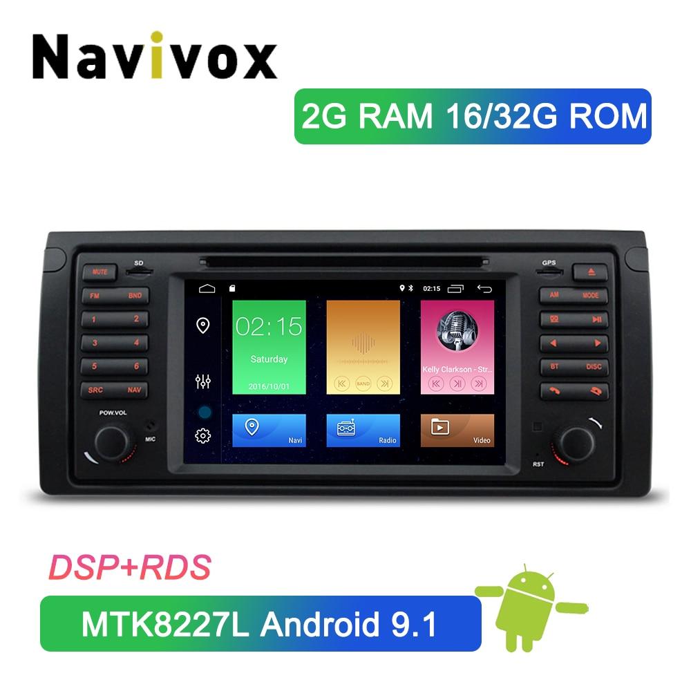 Navivox 1 Din Android 9.1 Car DVD GPS For BMW X5 E53 Car GPS Stereo Audio Navigation Multimedia Head Unit Bluetooth RDS DSP SWC