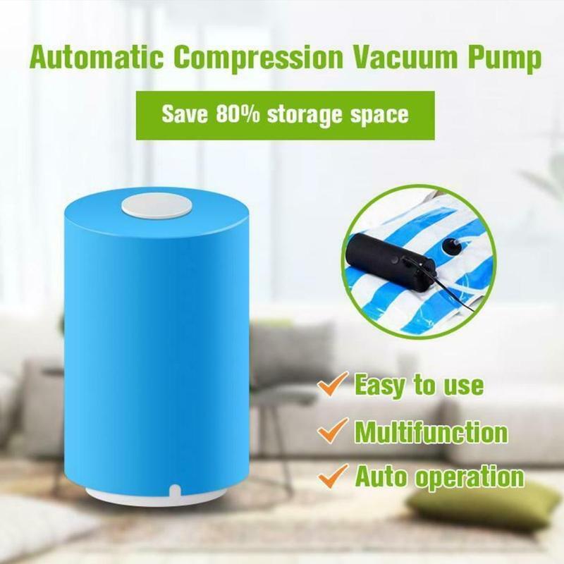 Hohe Qualität Blau Mini Automatische Kompression Vakuum Pumpe Sealer Clamp Snack Frische Lebensmittel Stange Streifen Mit Tasche Vakuum Maschine