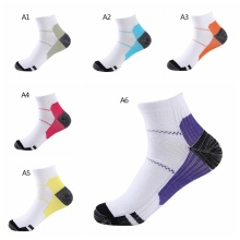 цена на Sports Compression Socks Breathable Sweat-absorbentFoot  Unisex Cycling Socks Basketball Fishing Yoga Soccer Santa Cruz