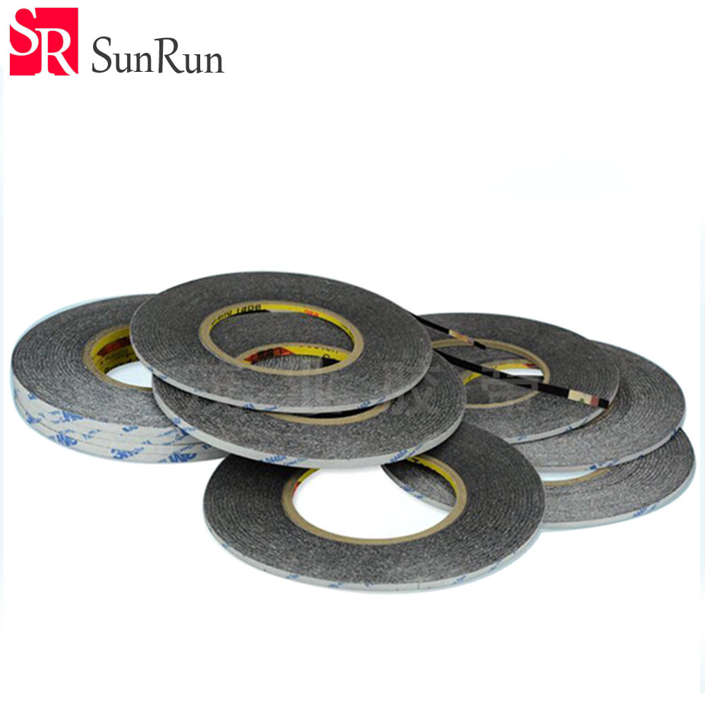 1x(1-20mm*50 Meters) Widely Use 3M  Black Double Sided Adhesive Tape for Smartphone Tablet LCD Touch Screen Display Repair Клейкая лента