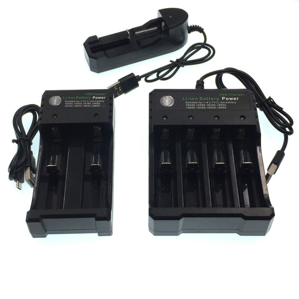 New 18650 V 3.7 <font><b>Charger</b></font> Lithium-ion Battery USB Independent Charging Portable Electronic Cigarette <font><b>14500</b></font> 16340 18350 <font><b>Charger</b></font> image