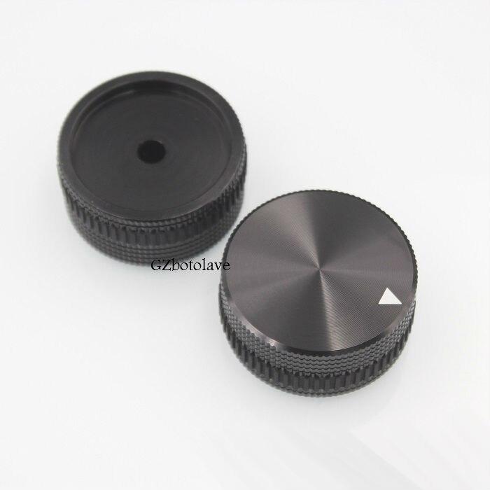 1 шт. черная алюминиевая ручка потенциометра крышка 40 мм * 18 мм ручка для потенциометра бесплатная доставка