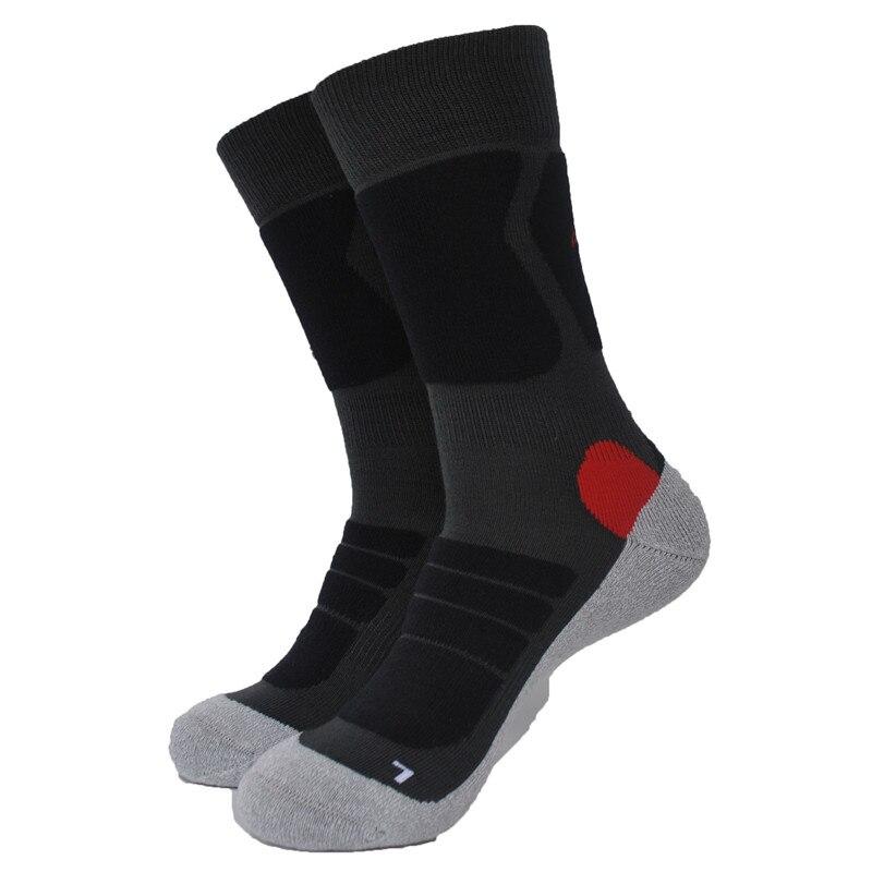 1 пара, для активного отдыха Coolmax, толстые походные носки, мужские носки, женские и мужские носки серого цвета