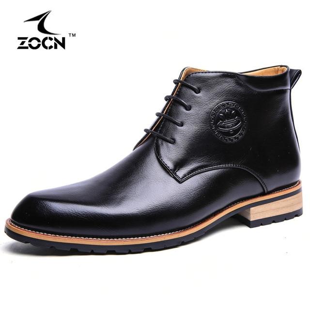 4 Colours Winter Men Boots Cow Split Leather Boots Men Shoes Fur Ankle Cowboy Boots For Men Winter Shoes Chaussure Homme