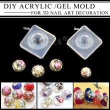 цена на 1pcs/lot Fashion Durable acrylic 3D Nail Art Tips Mold gel nail DIY Decoration Design