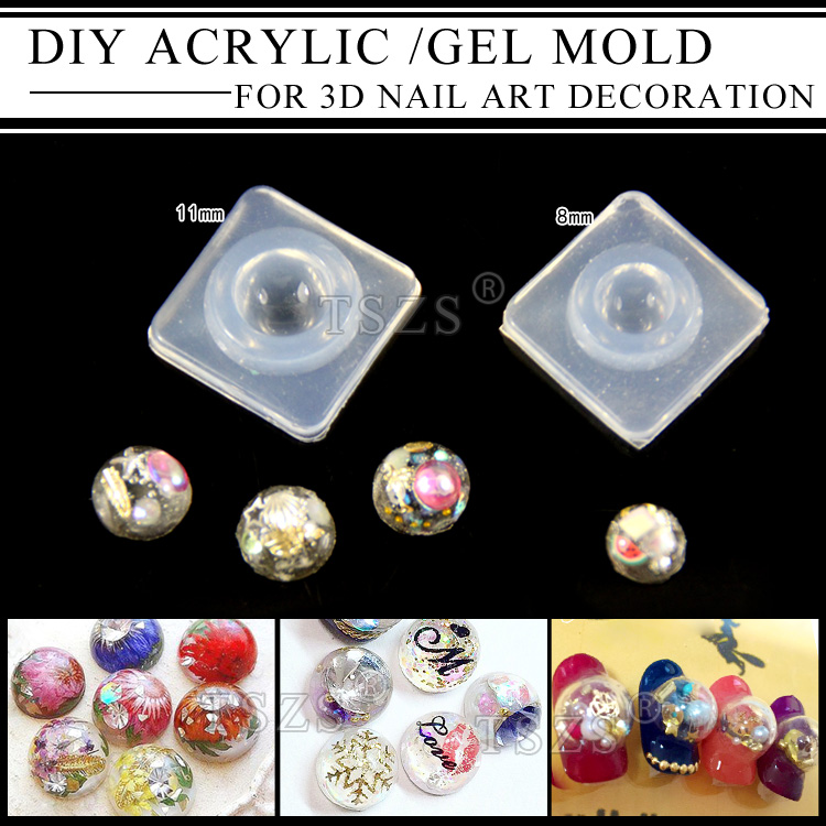 1pcs/lot Fashion Durable acrylic 3D Nail Art Tips Mold gel nail DIY Decoration Design