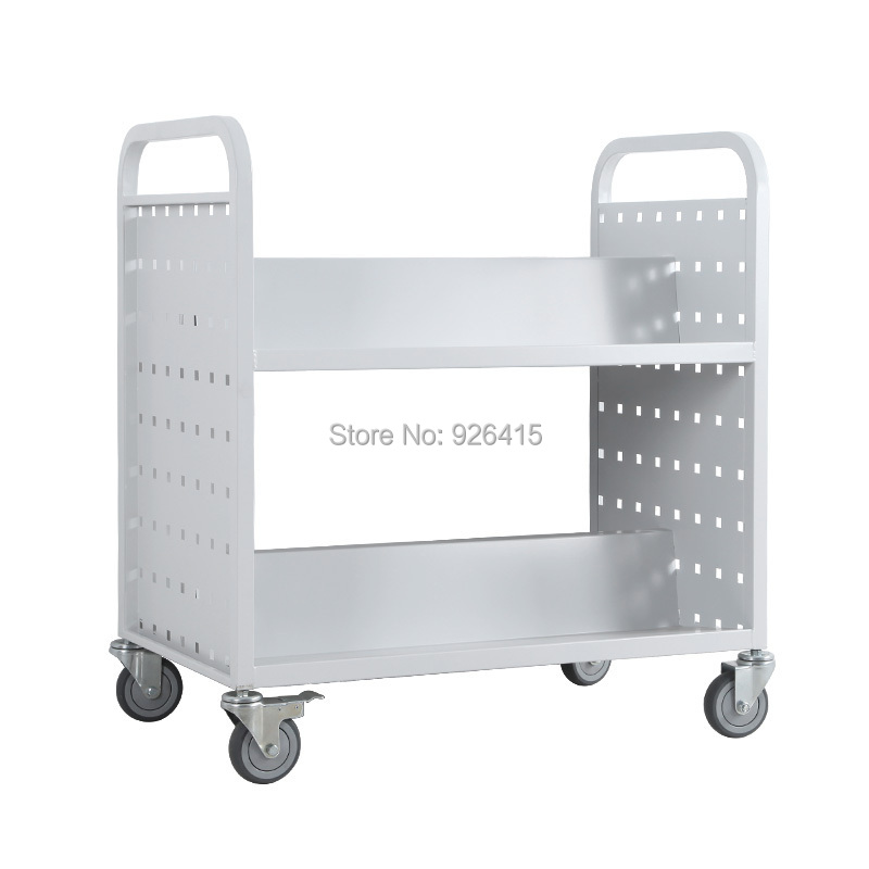 office trolley cart. Office Trolley Cart. Double Layers Library W Type Book Cart,double Sided  File Cart