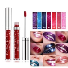 2018 New Arrivval Liquid Lipstick Waterproof Matte Lip Gloss Tint Makeup Long Lasting Lipgloss Glitter Paint Make Up Cosmetic