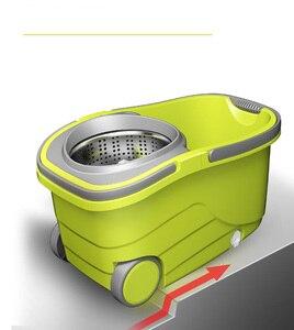 Image 5 - מושעה הפרדת דלי סמרטוט עם גלגלים ספין Noozle סמרטוט נקי מטאטא ראש ניקוי רצפת Windows נקי כלים