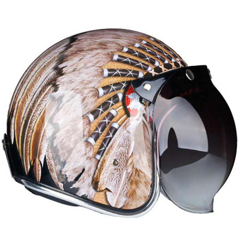 INDIAN MOTORCYCLE RETO METALLIC OPEN FACE HELMET M by Motorcycle Black Yellow S 2XL ECE and DOT in Helmets from Automobiles Motorcycles