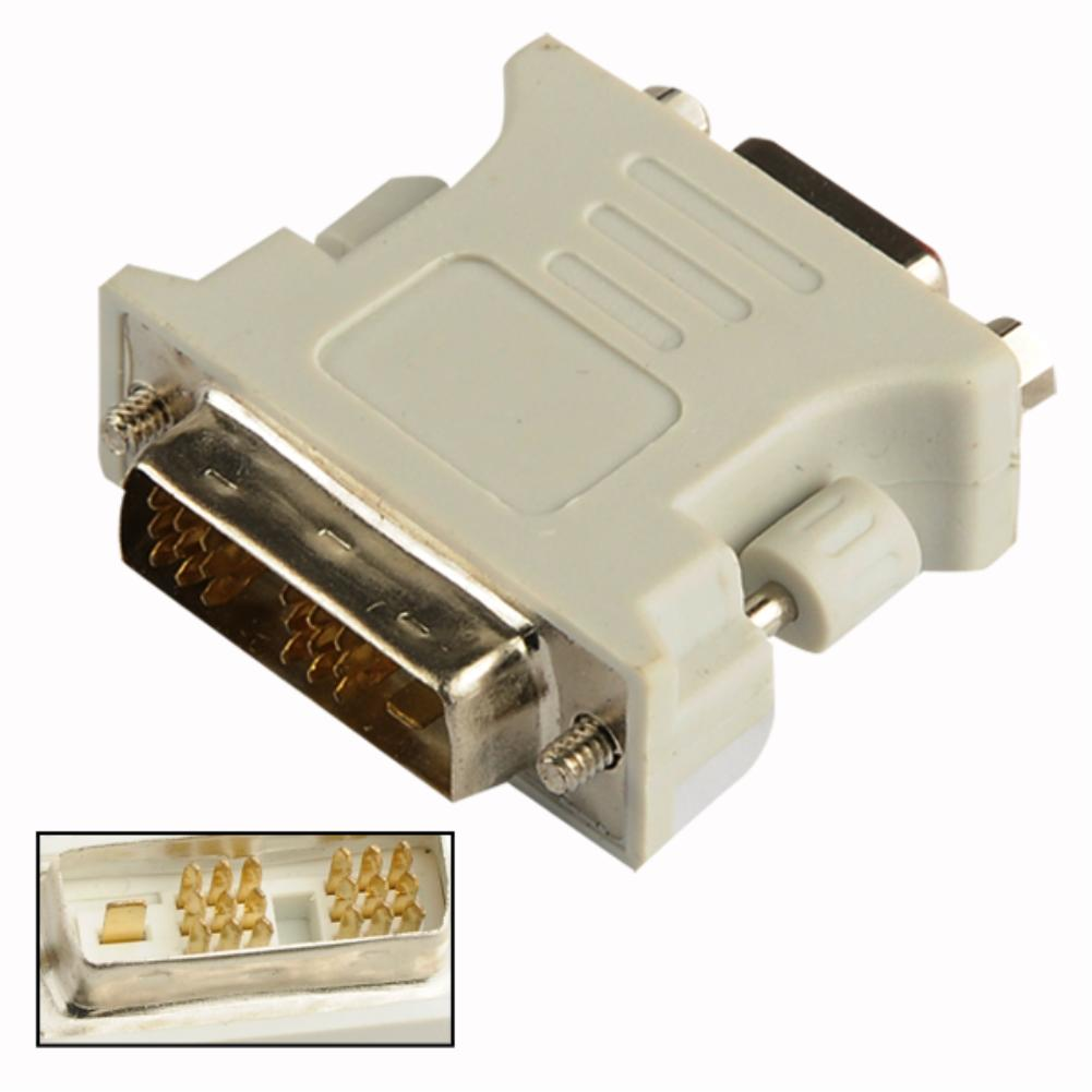 2016 White Latest VGA Female To DVI-D Single Link Male 18+1 Adapter For Graphic Card Durable EL5103
