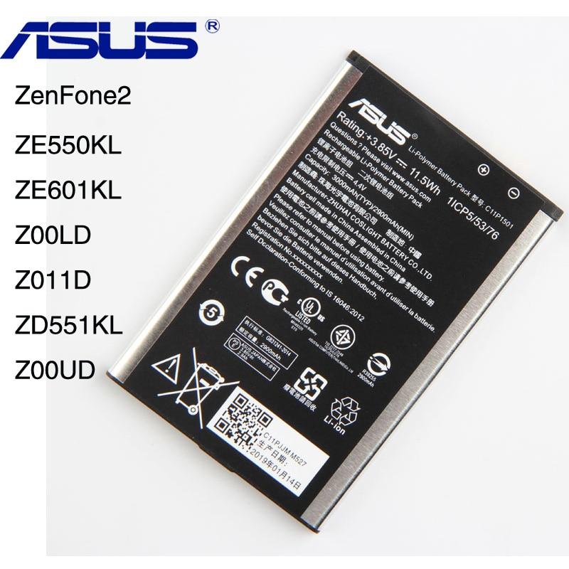 Original ASUS C11P1501 ZE550KL Phone Battery For ASUS ZenFone2 Laser 5.5/6  ZE601KL Z00LD Z011D ZD551KL Z00UD 2900mAh Original ASUS C11P1501 ZE550KL Phone Battery For ASUS ZenFone2 Laser 5.5/6  ZE601KL Z00LD Z011D ZD551KL Z00UD 2900mAh